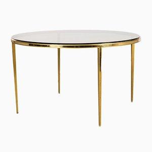 Tavolino da caffè rotondo in ottone dorato di Vereinigte Werkstätten, anni '60