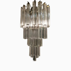 Mid-Century Murano Crystal Chandelier by Paolo Venini