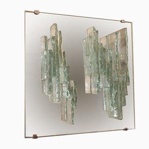 Lámpara de pared de vidrio de Raak, años 70