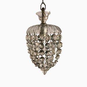Vintage Hängelampe aus Murano Kristallglas