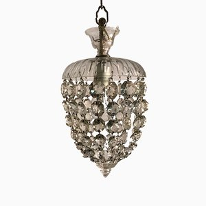 Vintage Murano Crystal Pendant Light
