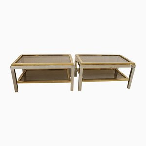 Tables d'Appoint Flaminia par Willy Rizzo, 1970s, Set de 2