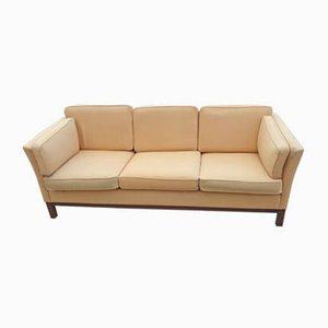 Sofá de tres plazas de lana amarilla, años 70