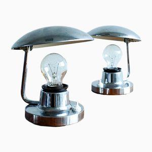Lampes de Bureau par Josef Hurka pour Napako, 1960s, Set de 2