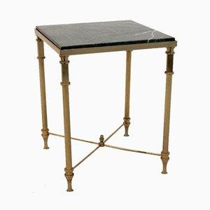Tavolino in ottone e marmo, Francia, anni '60