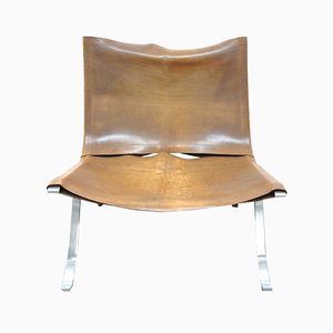 Vintage Leather Lounge Chair by Preben Fabricius for Arnold Exclusiv, 1971