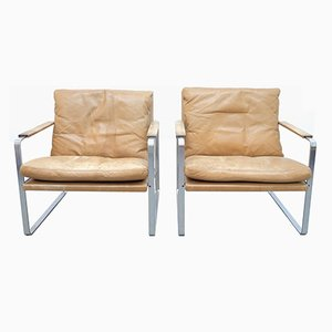 Armchairs by Preben Fabricius & Jørgen Kastholm for Walter Knoll, 1970s, Set of 2