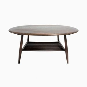 Vintage Oval Coffee Table from Ercol, 1960s