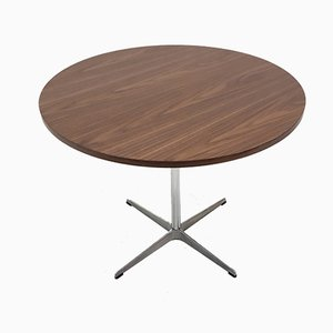 Round Vintage Table by Arne Jacobsen for Fritz Hansen