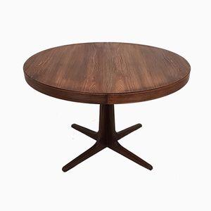 Vintage Scandinavian Extendable Round Table, 1960s