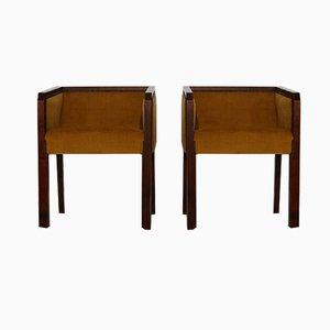 Art Deco Armlehnstühle, 2er Set