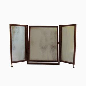 Freistehender Frisiertisch-Spiegel aus Eibenholz von Alan Browning, 1970er