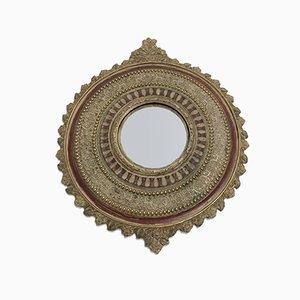 Gewölbter Vintage Spiegel, 1950er