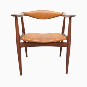 Dänischer Vintage CH 34 Armlehnstuhl von Hans J. Wegner für Carl Hansen & Søn