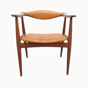 Vintage Danish CH 34 Armchair by Hans J. Wegner for Carl Hansen & Søn