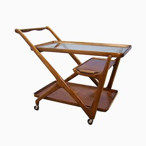 Italian Walnut Trolley by Cesare Lacca for Cassina, 1950s