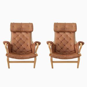 Pernilla Armchairs by Bruno Mathsson, 1970s, Set of 2