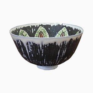 Cuenco sueco de cerámica hecho a mano de Alingsås Ceramic, años 60