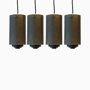 Deckenlampen aus Metall, 1950er, 4er Set