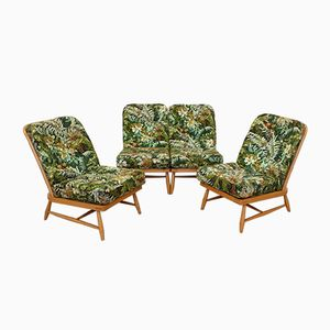 Living Room Set by Lucian Ercolani for Ercol, 1970s, Set of 4
