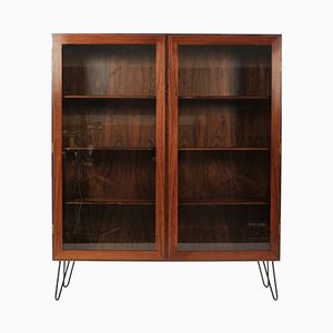 Palisander & Glass Bookcase from Omann Jun, 1960s