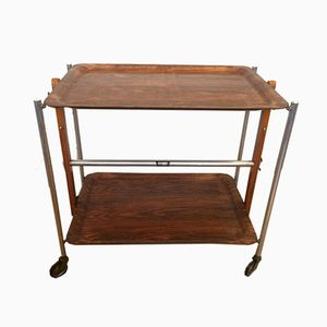 Vintage Foldable Serving Bar Cart from Textable, 1970s