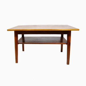 Mid-Century Czech Mahogany Coffee Table, 1960s