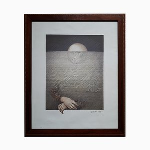 La Sonrisa de Lisa Lithografie von Subirachs, 1984