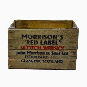 Caja de whisky escocés Morrison's vintage