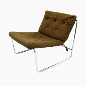 Vintage Corduroy Lounge Chair, 1970s