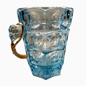 Sklo Union Ice Bucket by Rudolf Jurnikl for Rosice Glassworks, 1950s