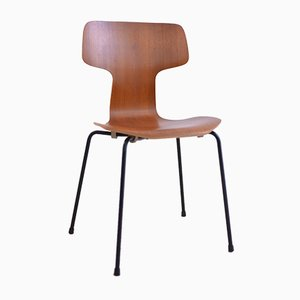 Chaise Modèle 3103 Mid-Century en Teck par Arne Jacobsen pour Fritz Hansen