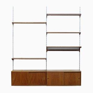 Conjunto de pared de teca de Kai Kristiansen para FM Furniture, años 60