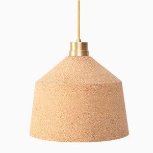 Lámpara colgante 164 WS de corcho natural de Paula Corrales Studio