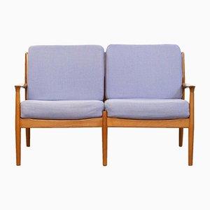 Canapé 2 Places Moderne en Teck par Grete Jalk pour Glostrup, Danemark, 1960s