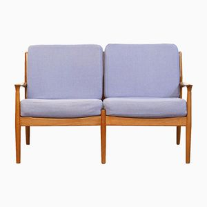 Danish Modern Teak 2-Seater Sofa by Grete Jalk for Glostrup, 1960s