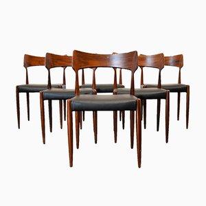 Esszimmerstühle aus Palisander von Bernhard Pedersen & Son, 1960er, 6er Set