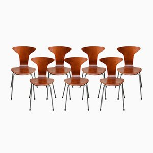 Model 3105 Mosquito Chairs by Arne Jacobsen for Fritz Hansen, 1967, Set of 7