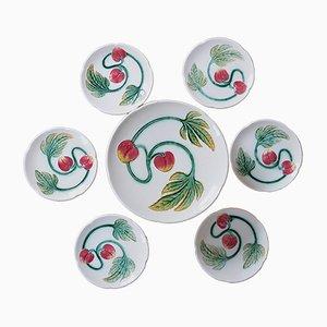 Service à Fruits Modèle 515 Art Nouveau en Majolique