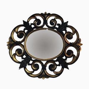 Specchio in legno intagliato, anni '70