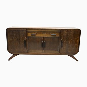 Mobiletto Art Déco in quercia, anni '20