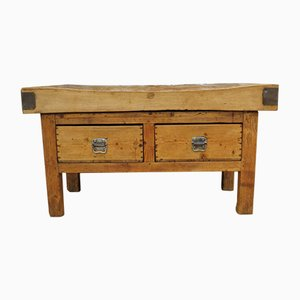 English Butchers Block in Maple, 1920s