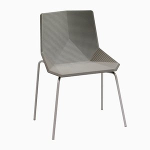 Green Outdoor Chair in Beige with Steel Legs by Mobles114