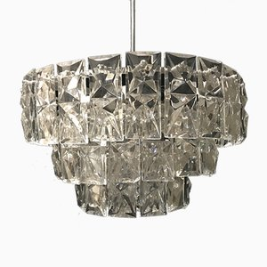 Chrome & Glass Chandelier from Kinkeldey, 1960s