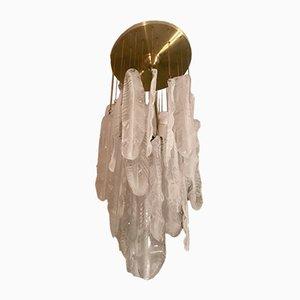 Lampada a cascata in vetro di Mazzega, anni '60