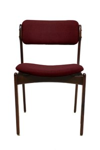 Customizable Vintage Models OD49 & OD50 Chairs by Erik Buch for O. D Møbler A.S, Set of 4 in Dark Red