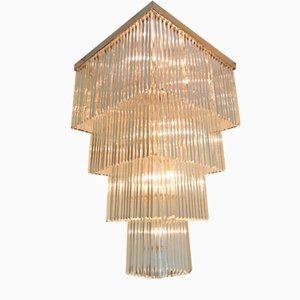 Murano Glass Chandelier with Gilt Gold Frame and Four Levels from Camer, 1970s