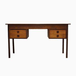 Mid-Century Schreibtisch aus dunklem Teak