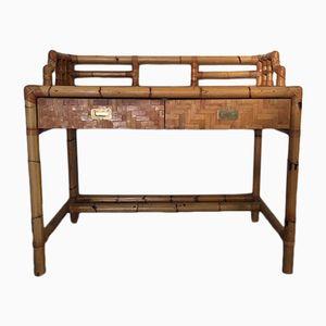 Schreibtisch aus Bambus, 1960er