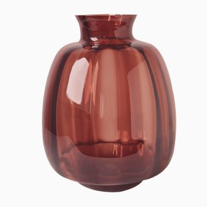 Copier Revisited Vase in Brown by A.D. Copier for Royal Leerdam Crystal, 2018